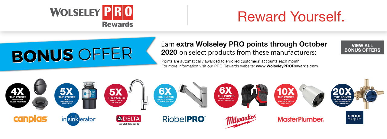 PRO Rewards Bonus Offers - October