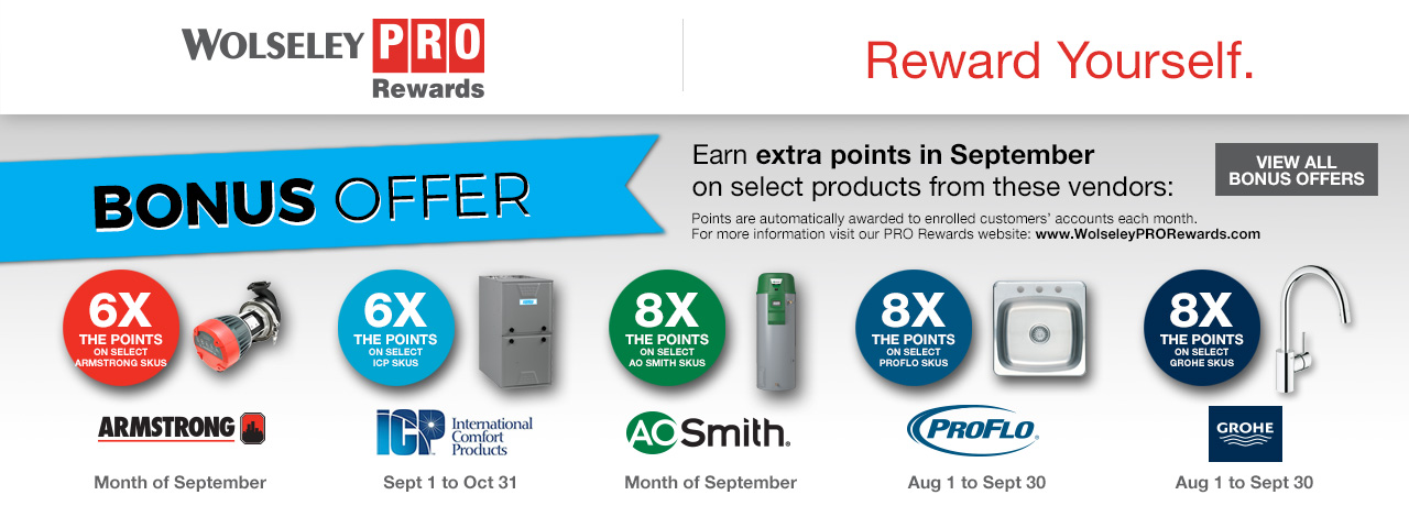 PRO Rewards Bonus Offers - sept